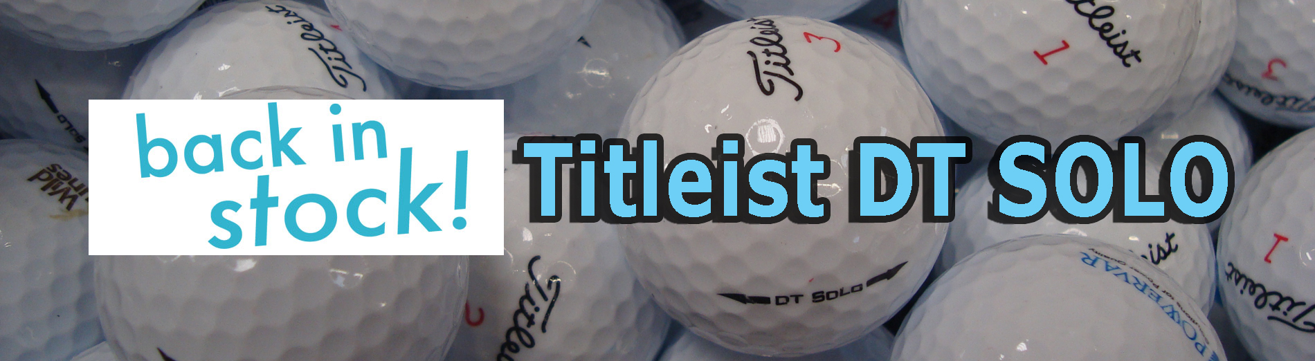 Titleist DT SOLO Back in Stock
