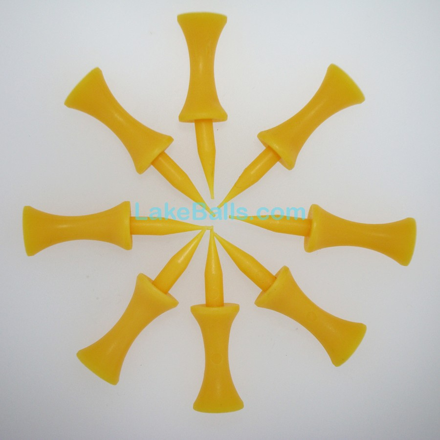 25mm Yellow Plastic Castle Tees