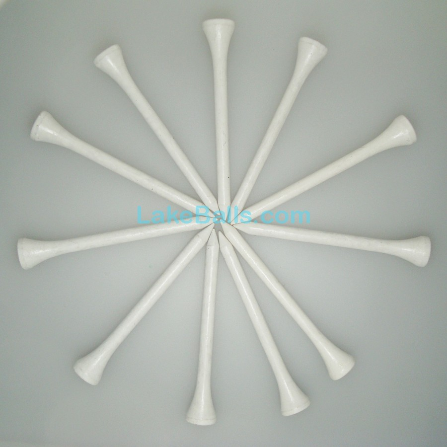 White Wooden Golf Tees
