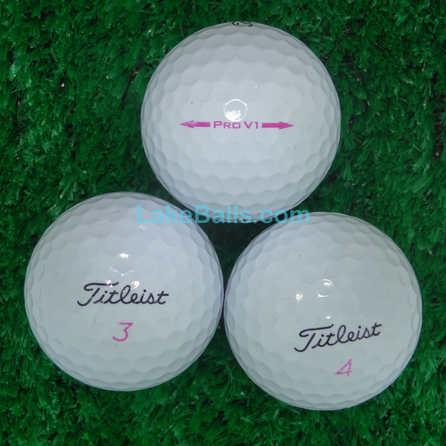 Titleist PRO V1 Limited Edition Pink Alignment Arrow & Number