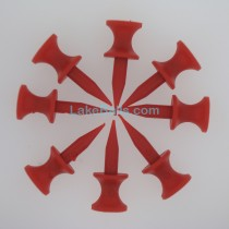 12mm Red Plastic Castle Golf Tees