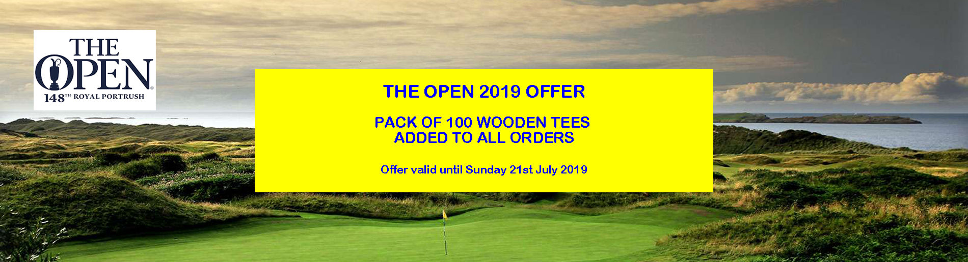 The Open 2019 Free Tees Offer
